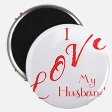Love My Husband Logo Hot Pinky Magnet