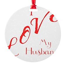 Love My Husband Logo Hot Pinky Ornament