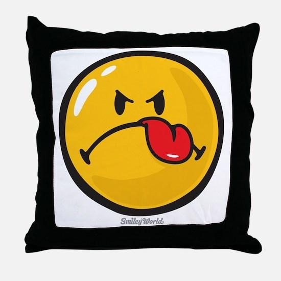 Detest Smiley Throw Pillow