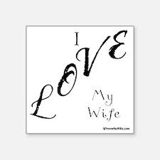 "I Love Tees Square Sticker 3"" x 3"""