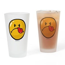 Detest Smiley Drinking Glass