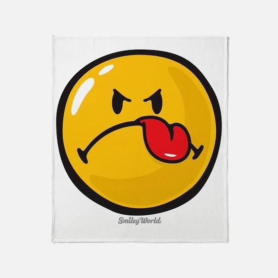 Detest Smiley Throw Blanket