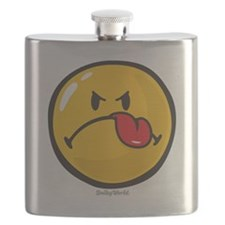 Detest Smiley Flask
