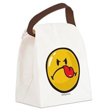 Detest Smiley Canvas Lunch Bag