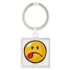 Sour Smiley Square Keychain
