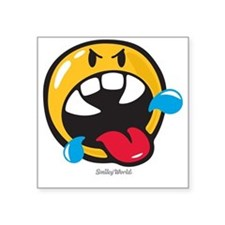 """Rabid Smiley Square Sticker 3"""" x 3"""""""
