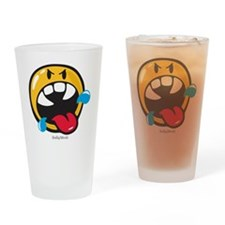 Rabid Smiley Drinking Glass