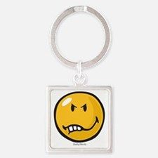 Vexed Smiley Square Keychain