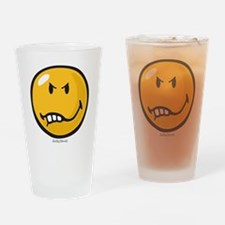 Vexed Smiley Drinking Glass