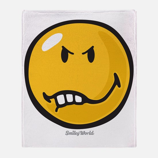 Vexed Smiley Throw Blanket
