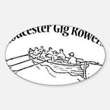 Gloucester Gig Rowers - black fill Decal