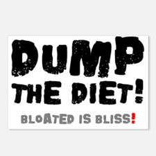 DUMP THE DIET - BLOATED I Postcards (Package of 8)