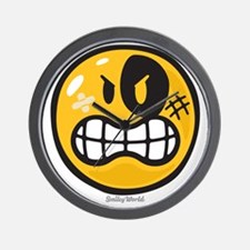 Aggression Smiley Wall Clock