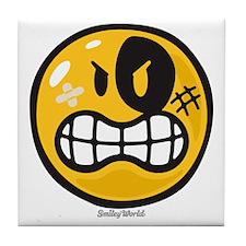 Aggression Smiley Tile Coaster