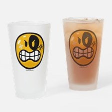 Aggression Smiley Drinking Glass