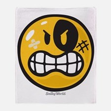 Aggression Smiley Throw Blanket