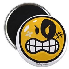 Aggression Smiley Magnet