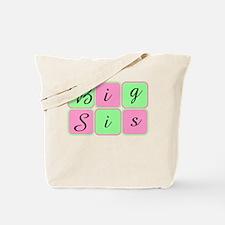 Big Sis (Green/Pink) Tote Bag