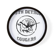 South Detroit Cougars Dark Wall Clock