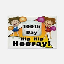 100th Day cheerleaders Rectangle Magnet