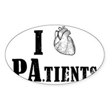 I Heart Patients Decal
