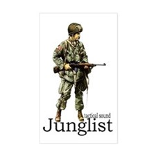 junglist soldier Rectangle Decal