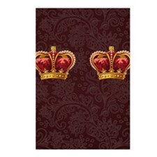 Gold Crown - royalty for  Postcards (Package of 8)