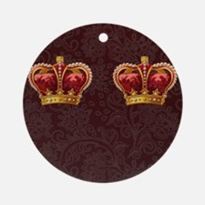 Gold Crown - royalty for walking Round Ornament