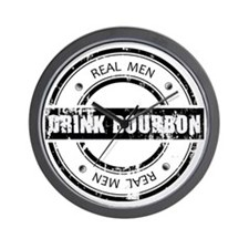 Real Men Drink Bourbon Wall Clock