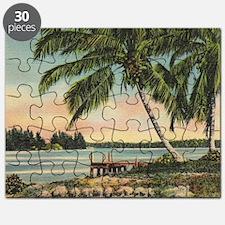 Vintage Coconut Palms Puzzle