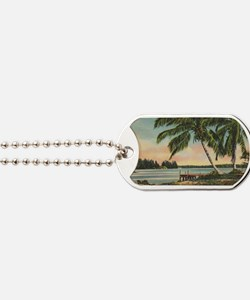 Vintage Coconut Palms Dog Tags