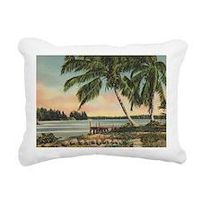 Vintage Coconut Palms Rectangular Canvas Pillow