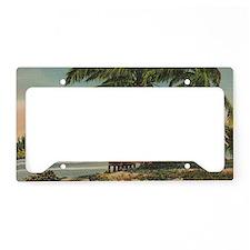 Vintage Coconut Palms License Plate Holder