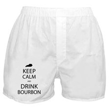 Keep Calm and Drink Bourbon Boxer Shorts