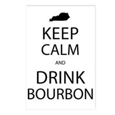 Keep Calm and Drink Bourb Postcards (Package of 8)