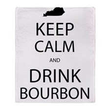 Keep Calm and Drink Bourbon Throw Blanket