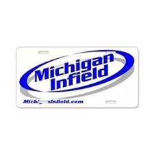Michigan Infield Aluminum License Plate