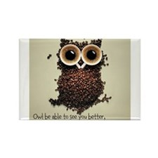 Owl says COFFEE!! Magnets