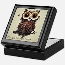 Owl says COFFEE!! Keepsake Box
