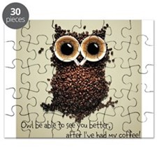 Owl says COFFEE!! Puzzle