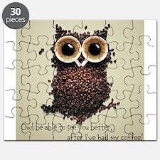 Owl says COFFEE!! Puzzle