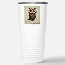 Owl says COFFEE!! Travel Mug