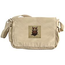 Owl says COFFEE!! Messenger Bag