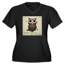 Owl says COFFEE!! Plus Size T-Shirt