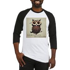 Owl says COFFEE!! Baseball Jersey