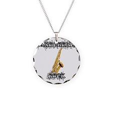 Saxophones Rock Necklace
