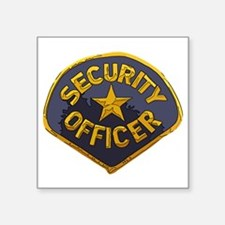 "Security Officer patch Square Sticker 3"" x 3"""