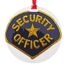 Security Officer patch Ornament