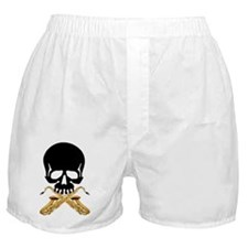 Skull with Saxophones Boxer Shorts