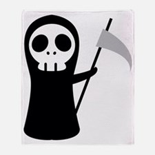 Grim Reaper Throw Blanket